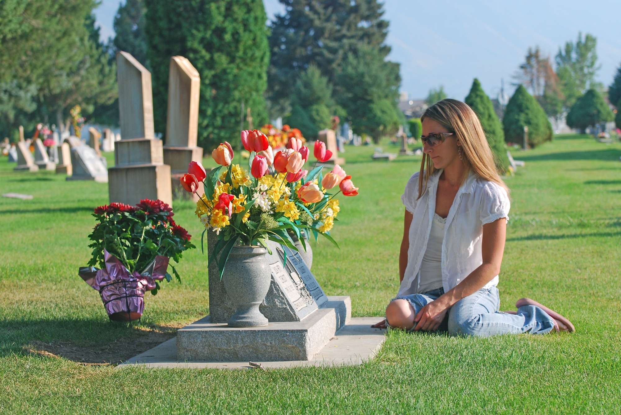 Woman at Grave