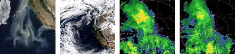 Weather Modification: Remember the drought in California & the weather front went down to Texas & Mexico & snowed there? ...here is satellite imagery showing the storm weather front being pushed away from California with high tech space age electromagnetic equipment; this kind of stealth activity has a disastrous effect on animals & people & such droughts immediately lead to out of control & raging fires