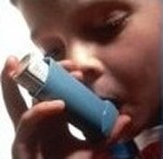 Baby with Inhaler