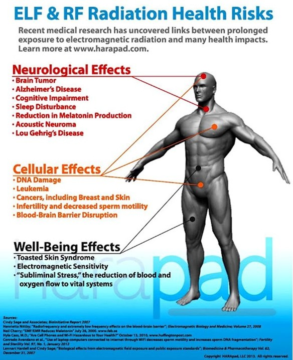 Health effects of electromagnetic frequencies (ELF) such as cell phones, Wi-Fi on you