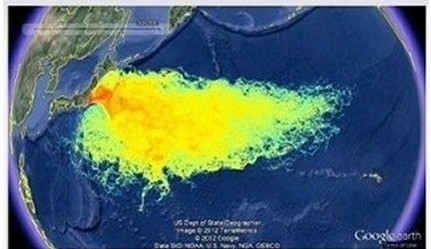Fukushima seaborne radionuclide fallout from March 2011 to Eternity
