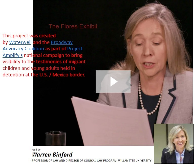 {Click pic for video) Professor Binford -1412- (in addition to fallout violating human rights, below), is also concerned with rights of children, including migrant children imprisoned at the U.S./Mexico border