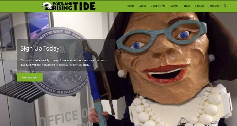 Portland Rising Tide combines long-term strategic campaigning with educational events and direct action to raise awareness and build capacity in our community to stop the plunge into climate chaos.
