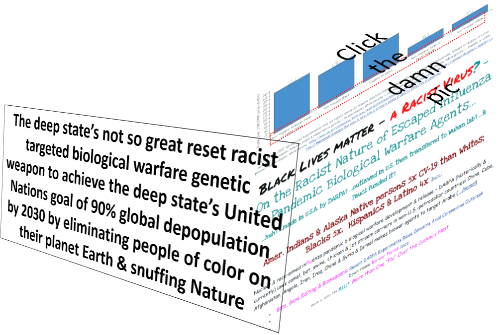 The deep state's not so great reset racist targeted biological warfare genetic weapon to achieve the deep state's United Nations goal of 90% global depopulation by 2030 by eliminating people of color on their planet Earth & snuffing Nature