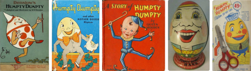 Humpty Dumpty sat on a wall, Humpty Dumpty had a great fall; All the King's horses and all the King's men, couldn't put Humpty Dumpty together, again.